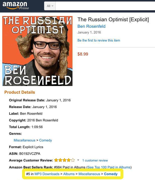 Amazon The Russian Optimist Number 5